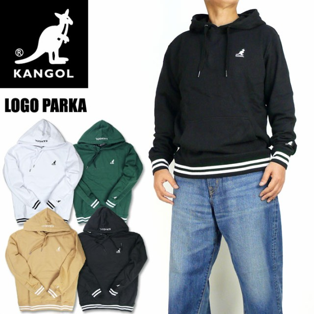 KANGOL カンゴール パーカー ワンポイント ロゴ刺...