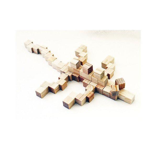 ひのきブロック 3,700個入 【 工作 木材 オリジナ...