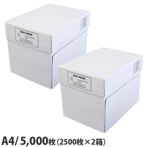 コピー用紙 A4 5000枚(2500枚×2箱) 高白色 ...