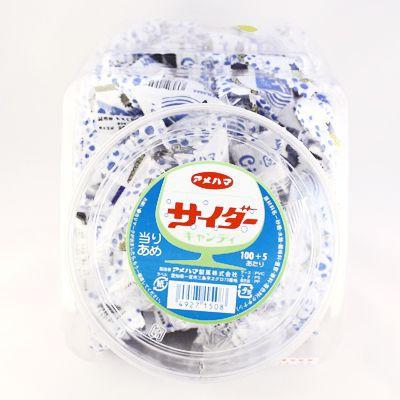 アメハマ サイダーキャンディ あたり付き 100個+3...