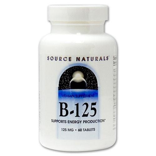 B-125 125mg 60粒 Source Naturals
