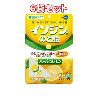 (6袋セット)イソジンのど飴 フレッシュレモン ...