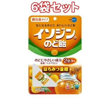 (6袋セット)イソジンのど飴 はちみつ金柑 54...