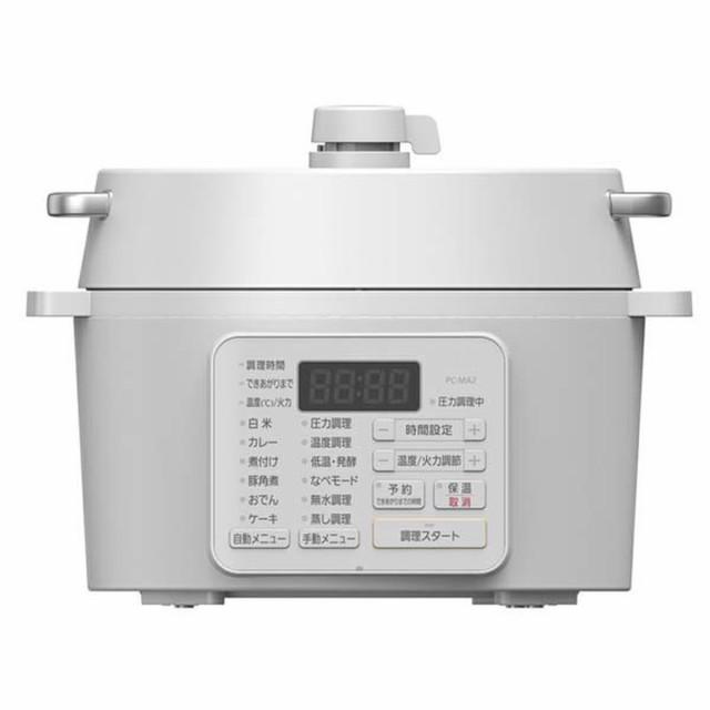 アイリスオーヤマ 電気圧力鍋 2.2L ホワイト PC-M...