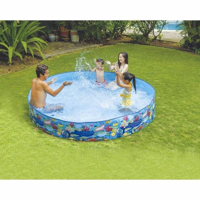 プール 家庭用プール ガーデンプール 2.4m 大型 ...
