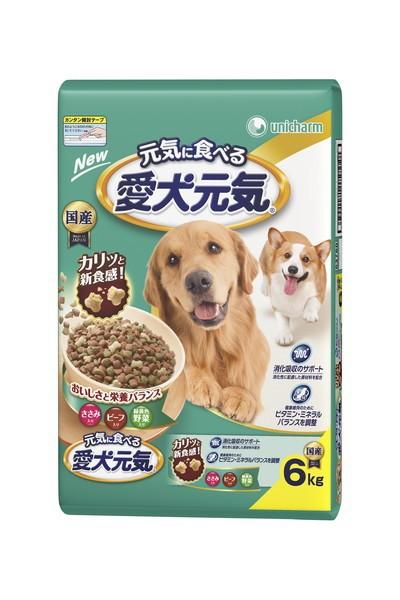 愛犬元気ささみビーフ緑黄色野菜入6.0kg