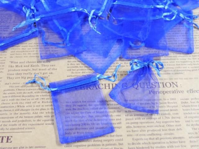 ジュエリー袋 オーガンジー四角 約90枚 約9x6.3cm...