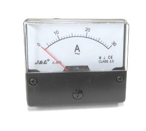 アナログAC電流メーター 30A(70×60mm)