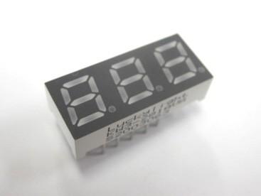 3桁7セグメントLED/KW3-281AVA(4個セット)