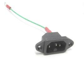 ACインレット(ネジ留式IEC60320-C16)+アースワイ...
