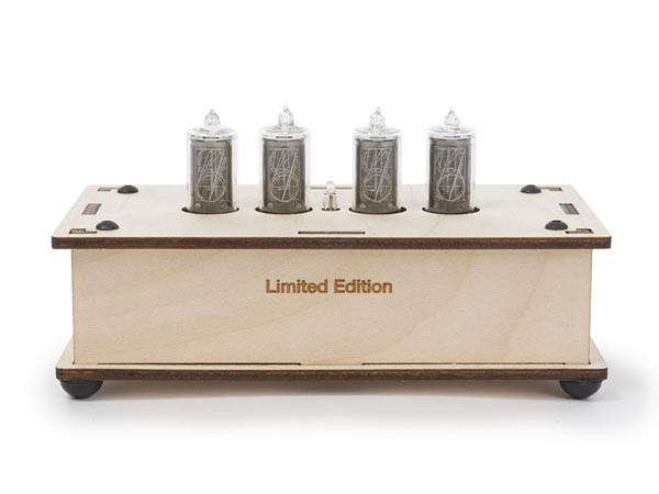 ニキシー管時計-限定版-木製レーザーカットケース...