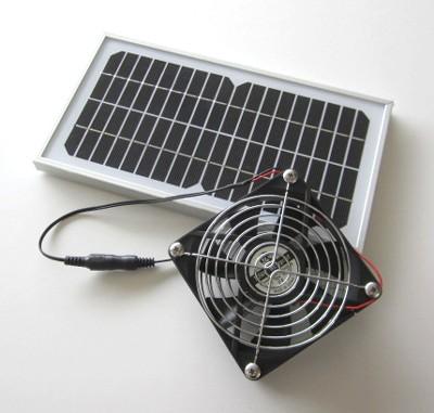 ソーラーパネル(メタルケースS)+防水仕様送風・...