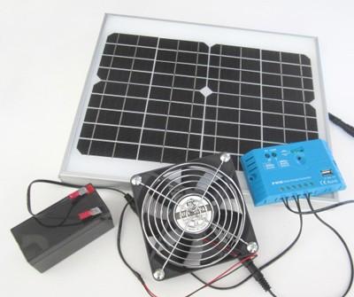 ソーラーファン(メタルケースL)+PWMソーラー充電...