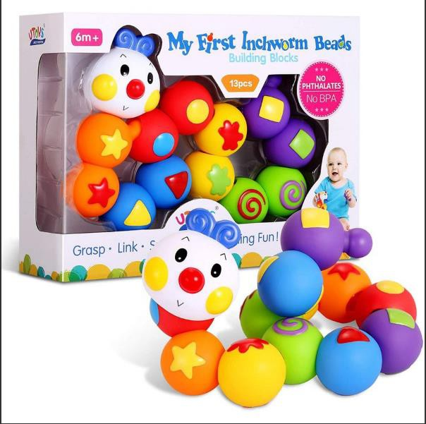 赤ちゃん おもちゃ 0歳1歳 積み木 13pcs 幼児 ベ...