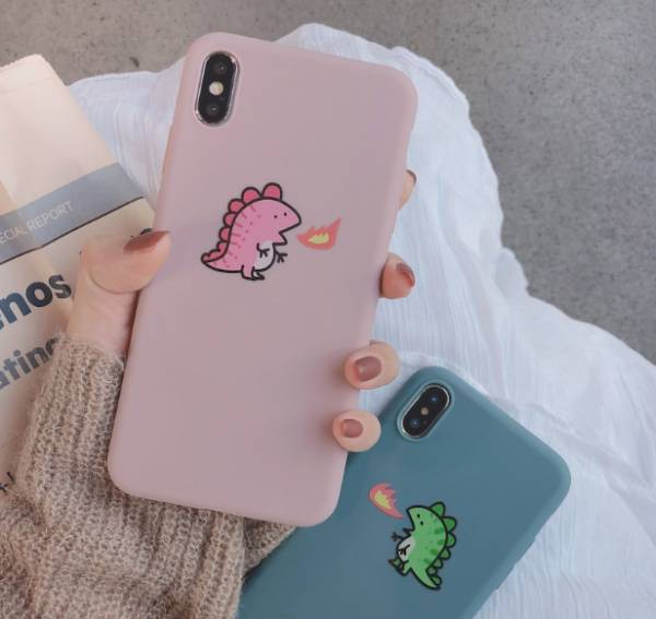 カップル スマホケース 可愛い恐竜 iPhone ケース...