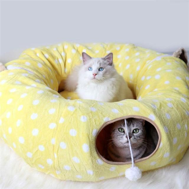 猫 トンネル キャット 猫の寝袋 多用 2WAY 猫のト...