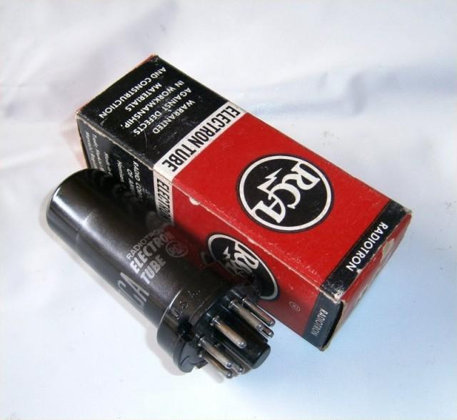 双3極電力管 6N7 メタル管 元箱入り
