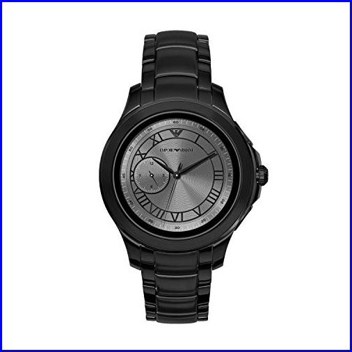 Emporio Armani Mens Smartwatch Stainless-Steel...