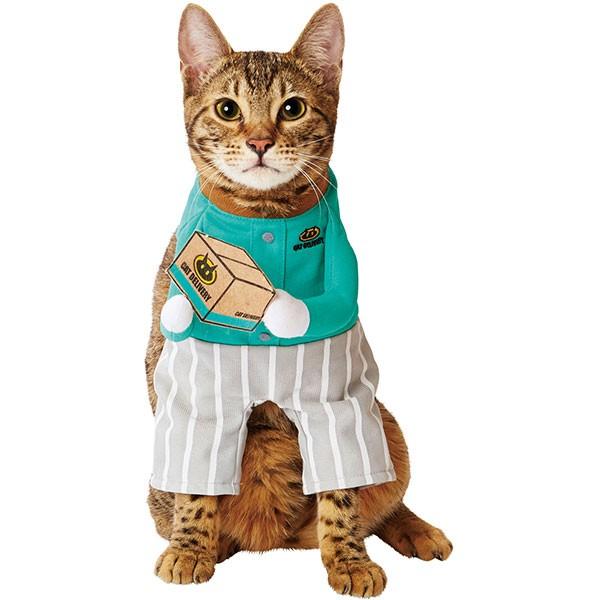 ペティオ 猫用変身着ぐるみ ウェア 配達員 服 キ...