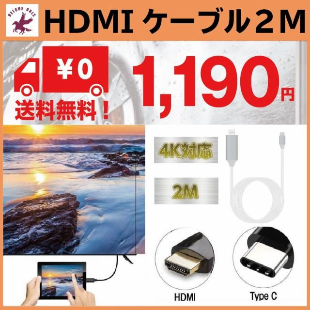 type-c hdmi 変換ケーブル 高解像度映像出力 4K対...
