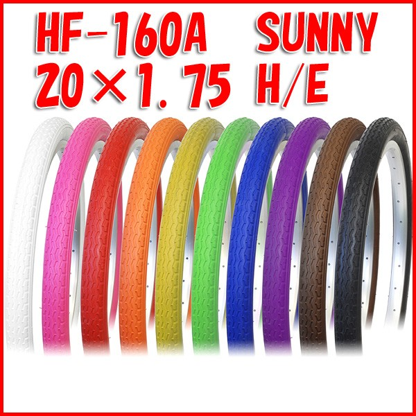 ◎ 20インチ カラータイヤ HF-160A SUNNY ミニベ...