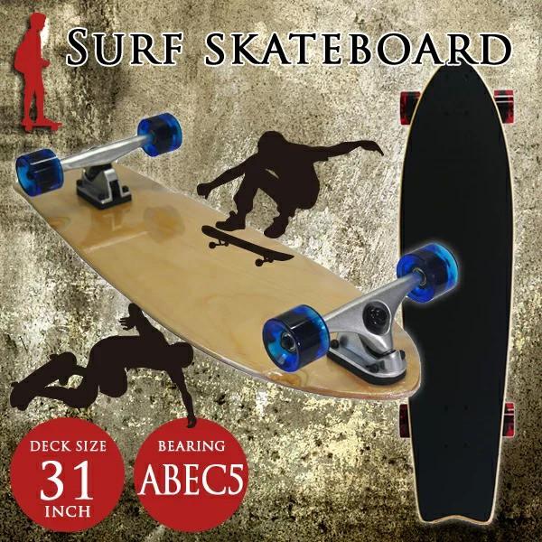 31インチ サーフスケート スケボー スケートボー...