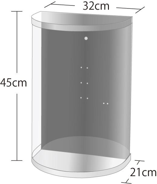ブーケケース ラウンド 32cm×21cm×45cm(SSサイ...