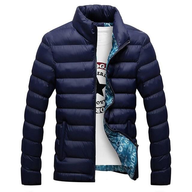 冬のジャケット男性2019ファッションスタンドカラ...