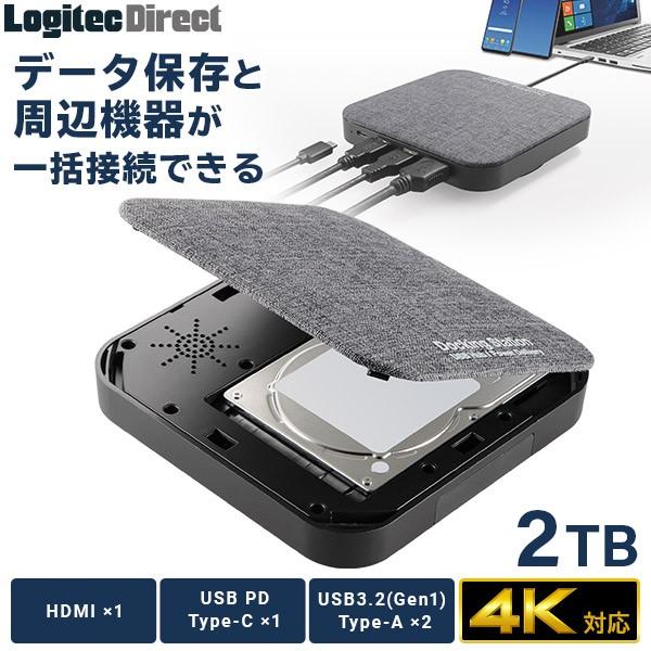 ドッキングステーション HDD USB Type-C x1 USBPD...