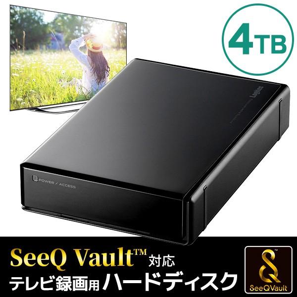 SeeQVault対応 外付けハードディスク 4TB テレビ...