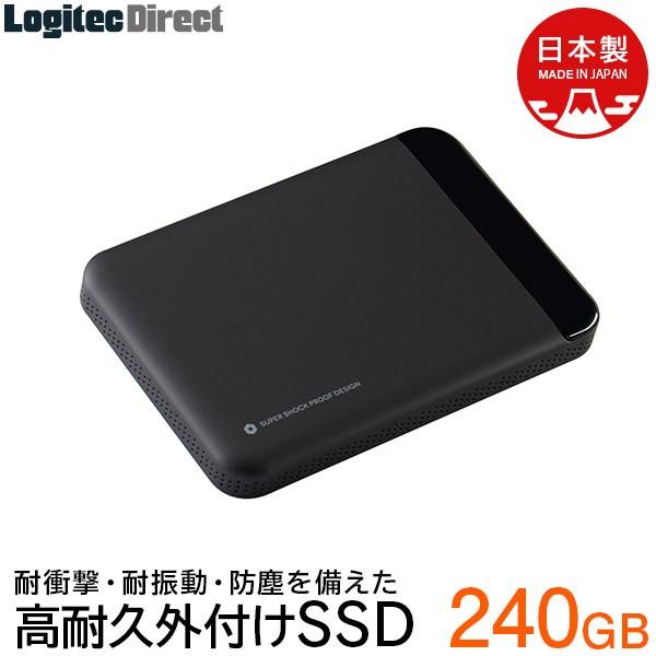 ロジテック 高耐久 外付けSSD ポータブル 小型 96...