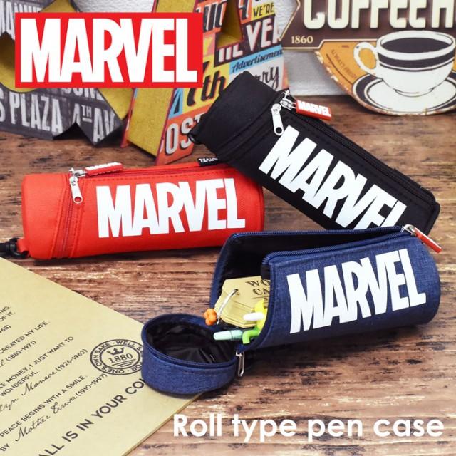 MARVEL マーベル 3WAY 筒形 ペンケース ポーチ 筆...