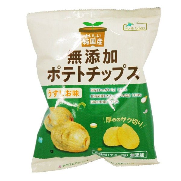 純国産ポテトチップス・うすしお(60g)【ノース...