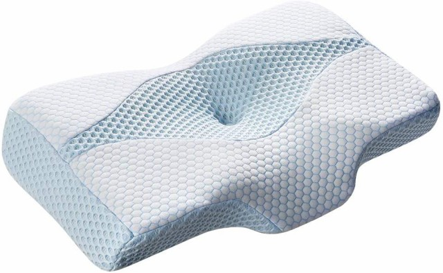 MyeFoam 日本特許品 枕 安眠 人気 肩が軽くになるまくら 低反発 中空設計 頭・頚部・肩をやさしく支える 頚部サポート 快眠枕 仰向き 横