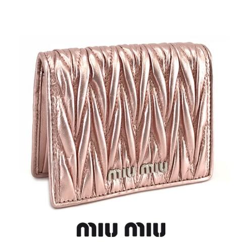 ミュウミュウ/MIU MIU レディース  2つ折り財布 MATELASSE 5MV204 N88 ROSA MORDORE/F0XDS