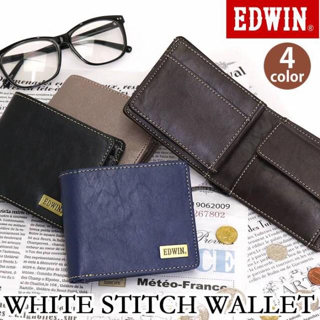 財布 EDWIN エドウイン 二つ折り財布 二つ折り ウ...