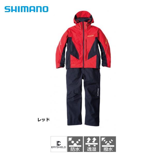 シマノ NEXUS DS レインスーツ RA-125U レッド 2X...