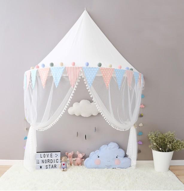 テント 子供部屋 北欧 三角の旗 白 ホワイト ベビー キッズ 北欧 インテリア 壁飾り おしゃれ かわいい 写真 誕生日 クリスマス プレゼン