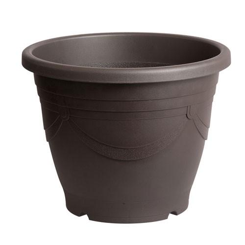 スドー  メダカの深鉢 黒茶 13号 S-5582