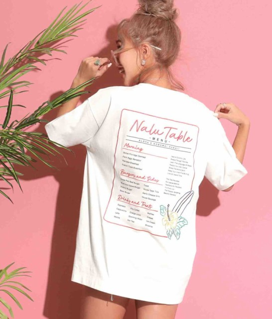 Hawaii刺繍Tシャツ レディース anap mimpi アナッ...