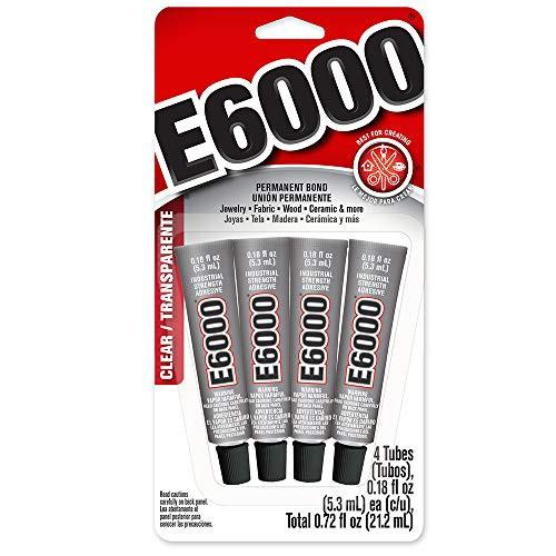 E6000 ミニチューブ 接着剤 5.3ml 4本入り
