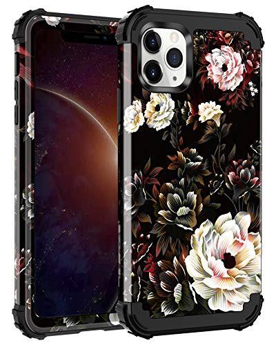 Lontect iPhone 11 Pro Max ケース フローラル 3 ...