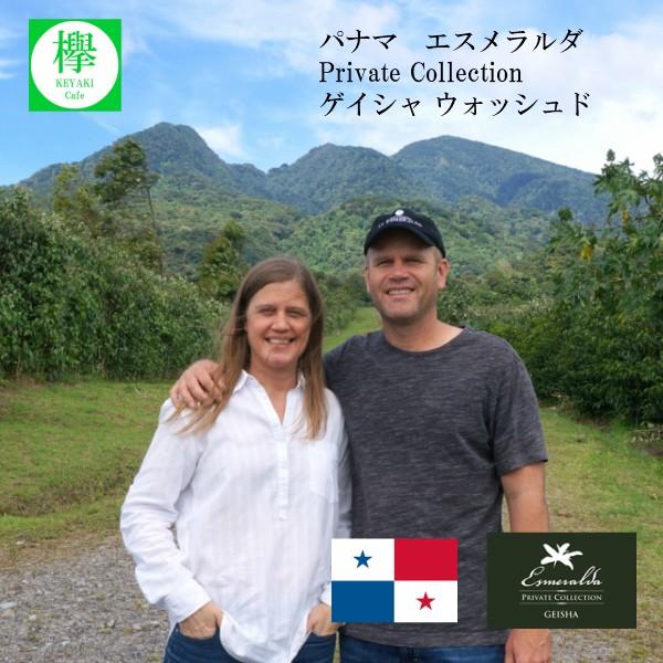 パナマ エスメラルダ Private Collection ゲイシャ ウォッシュド コーヒー豆 200g 約20杯分 欅 Cafe &焙煎