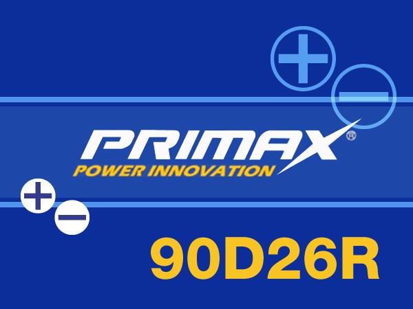 明日お届け対応PRIMAX バッテリー(90D26R) 12V 国...
