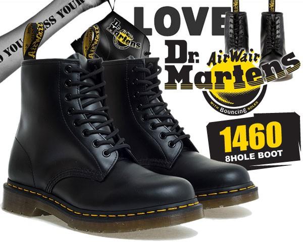 【ドクターマーチン 8ホール ブーツ】Dr.Martens 1460 8HOLE BOOT SMOOTH BLACK レースアップブーツ メンズ R11822006