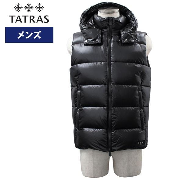 タトラス TATRAS メンズフード付きダウンベスト ...