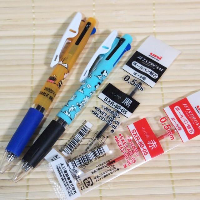 スヌーピー ジェットストリーム 3色ボールペン 2...