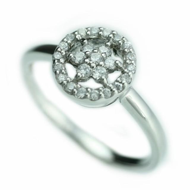 天然ダイヤモンド リング k10 イエローゴールド/...