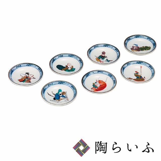九谷焼 3号皿揃 七福神