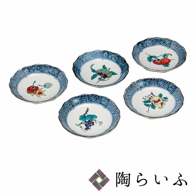 九谷焼 4.2号皿揃 果実絵変り<九谷焼 和食器 皿 ...